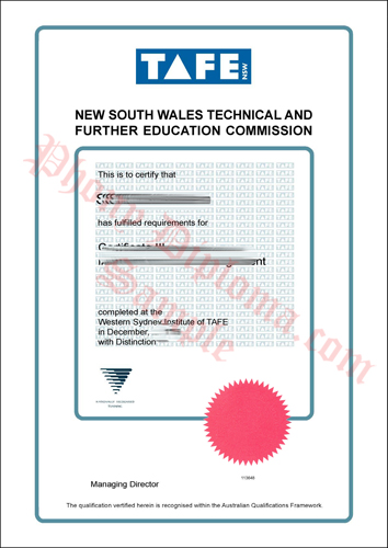 Tafe Vertical New South Wales Technical And Further Education Commission New South Wales Nsw Fake Diploma Sample From Phonydiploma
