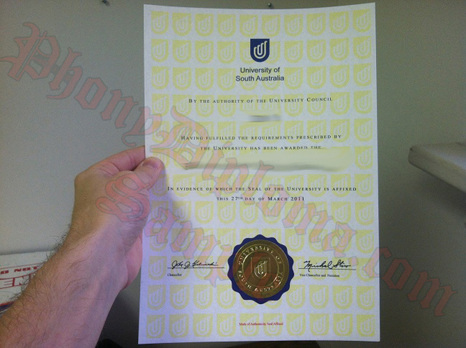 University Of Southern Australia Fake Diploma Sample From Phonydiploma