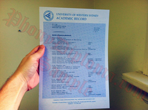University Of Western Sydney Transcripts Australia Fake Diploma Sample From Phonydiploma