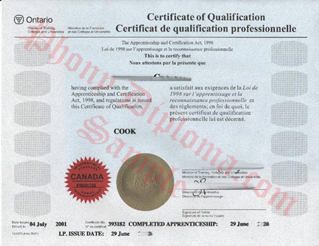 Cooks Red Seal Certificate Canada Culinary Fake Diploma From Canadian School From Phonydiploma
