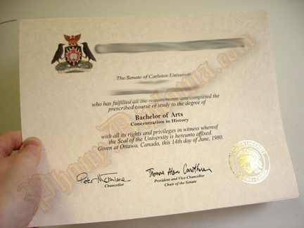 Fake Diploma Sample 1