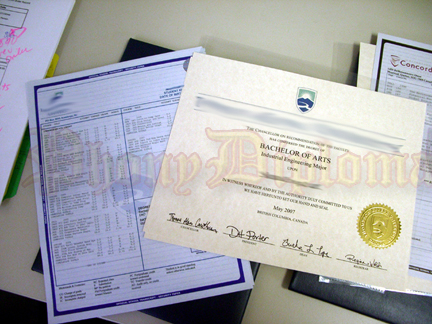 Fake Diploma With Transcripts