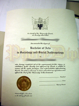 Fake International Diploma Sample 5
