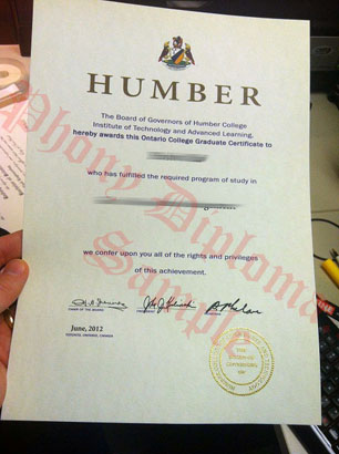 Humber College Fake Diploma From Canadian School From Phonydiploma