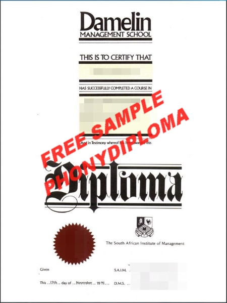 South Africa Damelin College Free Sample From Phonydiploma