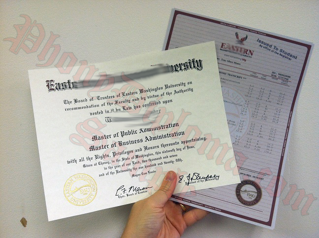 Eastern Washington University Diploma And Transcripts Photo
