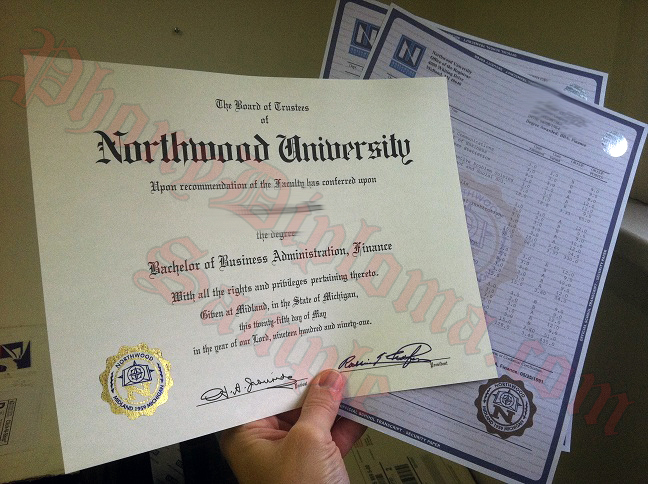 Northwood Diploma And Transcript Photo