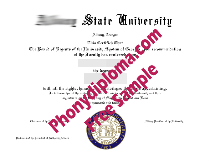Albany State University Free Sample From Phonydiploma