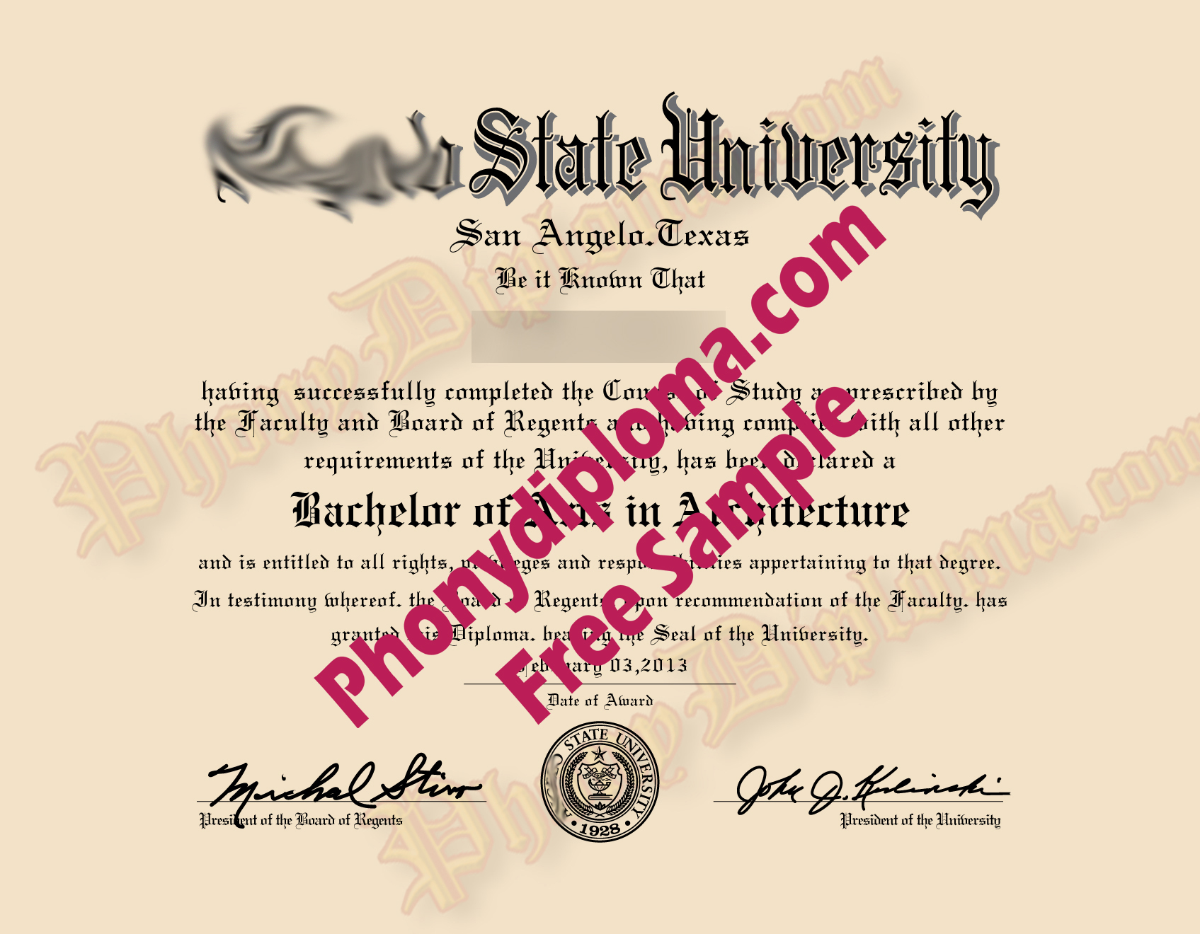 Angelo State University Free Sample From Phonydiploma