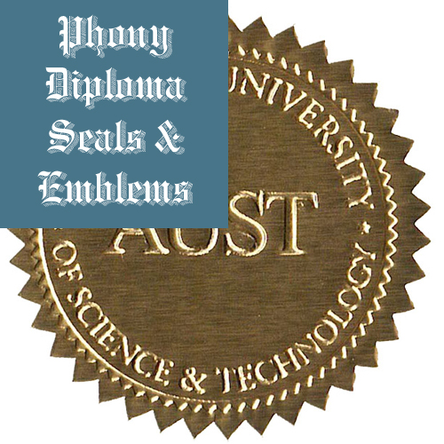 American University Of Science And Technology Lebanon Fake Diploma Embossed Emblem Seal Phonydiploma
