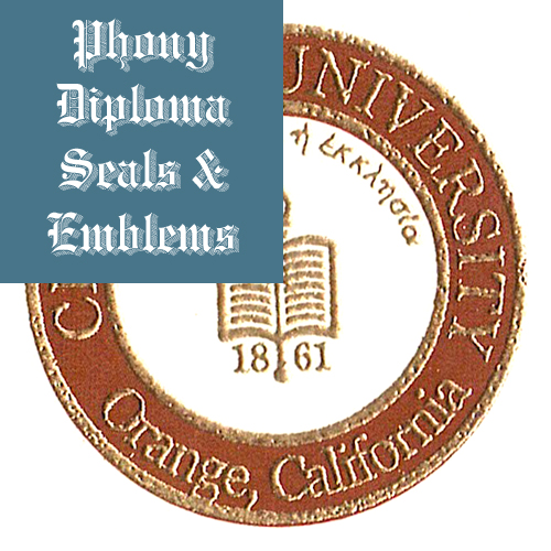 Chapman University Usa Fake Diploma Dual Color Foil Emblem Seal Phonydiploma