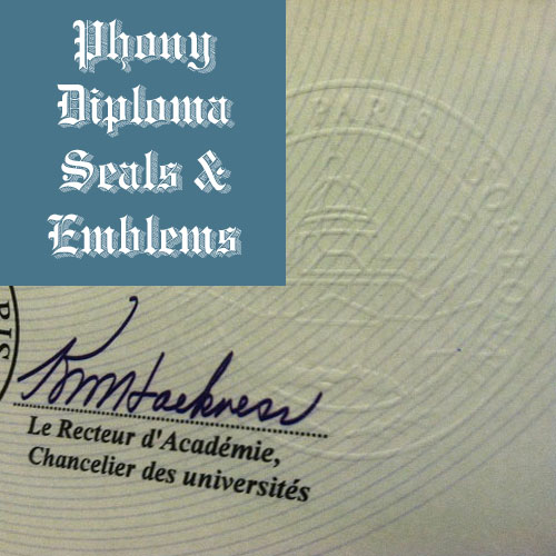 Embossed Colorless Emblem Sample Phonydiploma