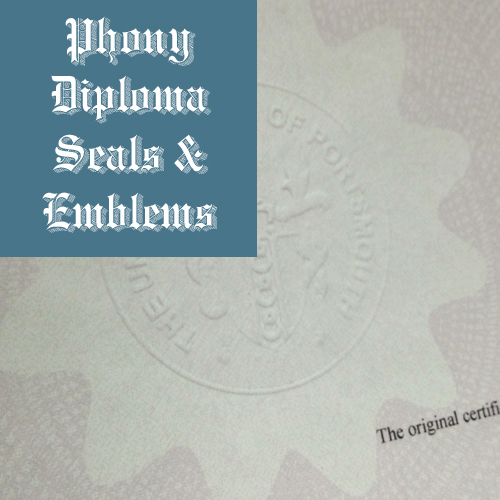 Embossed Emblem Sample Phonydiploma