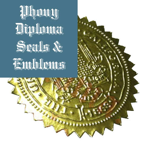 Embossed Gold Star Seal Emblem Sample Phonydiploma