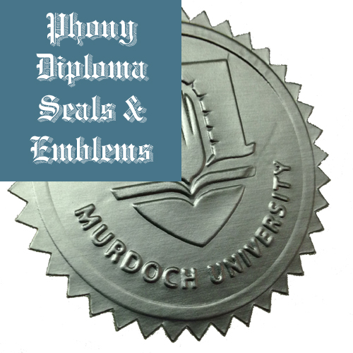 Embossed Silver Star Seal Emblem Sample Phonydiploma