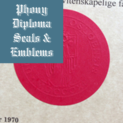 Embossed Red Round Seal Emblem Sample Phonydiploma