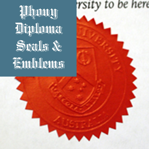 Embossed Red Star Seal Emblem Sample Phonydiploma