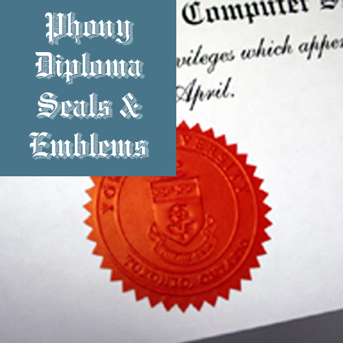 Embossed Red Star Emblem Sample Phonydiploma