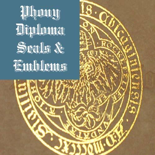 Flat Foil Seal Emblem Sample Phonydiploma