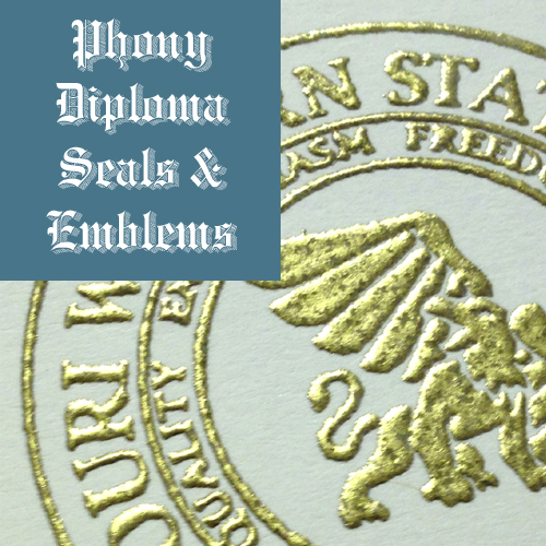 Raised Gold Foil 2 Seal Emblem Sample Phonydiploma