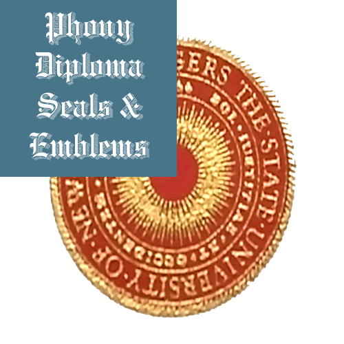 Raised Gold Foil Over Red 2 Seal Emblem Sample Phonydiploma