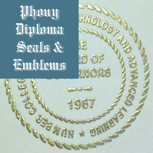 Raised Gold Foil Seal Emblem Sample Phonydiploma