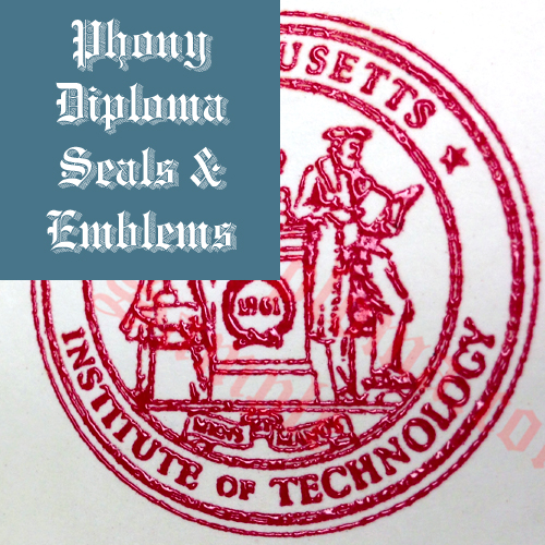 Raised Red Wax Seal Emblem Sample Phonydiploma