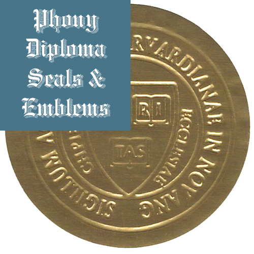Round Gold Foil Embossed Seal Emblem Sample Phonydiploma