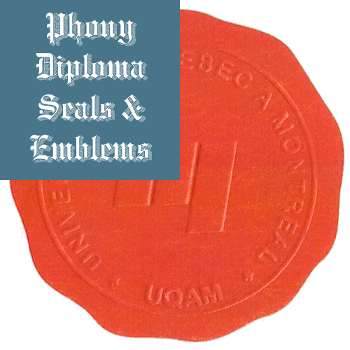 Universite De Quebec Montreal Canada Fake Diploma Embossed Emblem Seal Phonydiploma