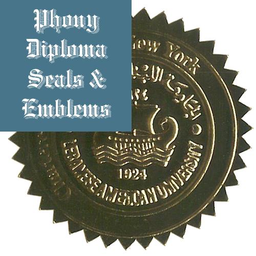 Lebanese American University Lebanon Fake Diploma Embossed Emblem Seal Phonydiploma