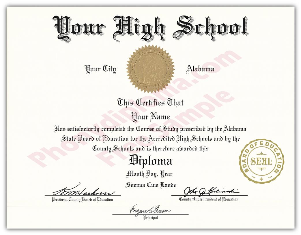 High School and Secondary Diplomas