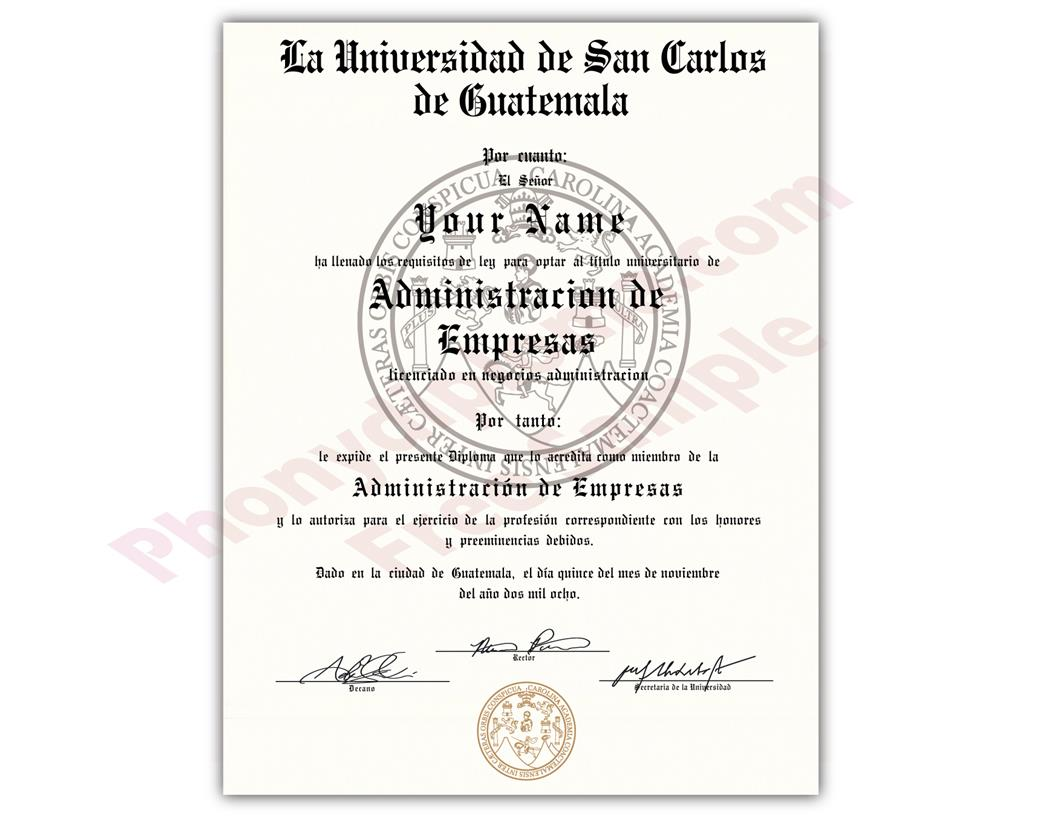 Buy Fake Diplomas and Transcripts from Guatemala
