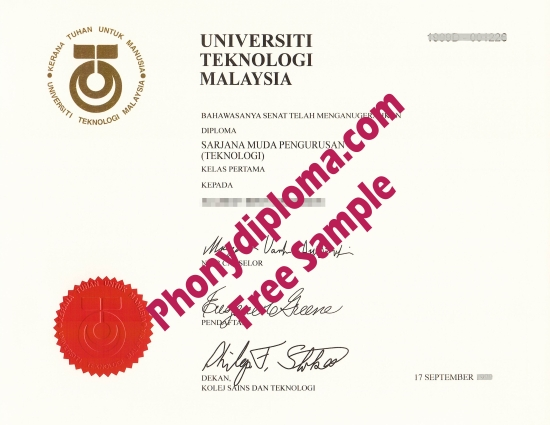 Fake Diploma from Malaysia University Malaysia D