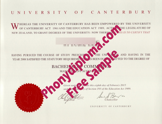 Fake Diploma from New Zealand  University New Zealand