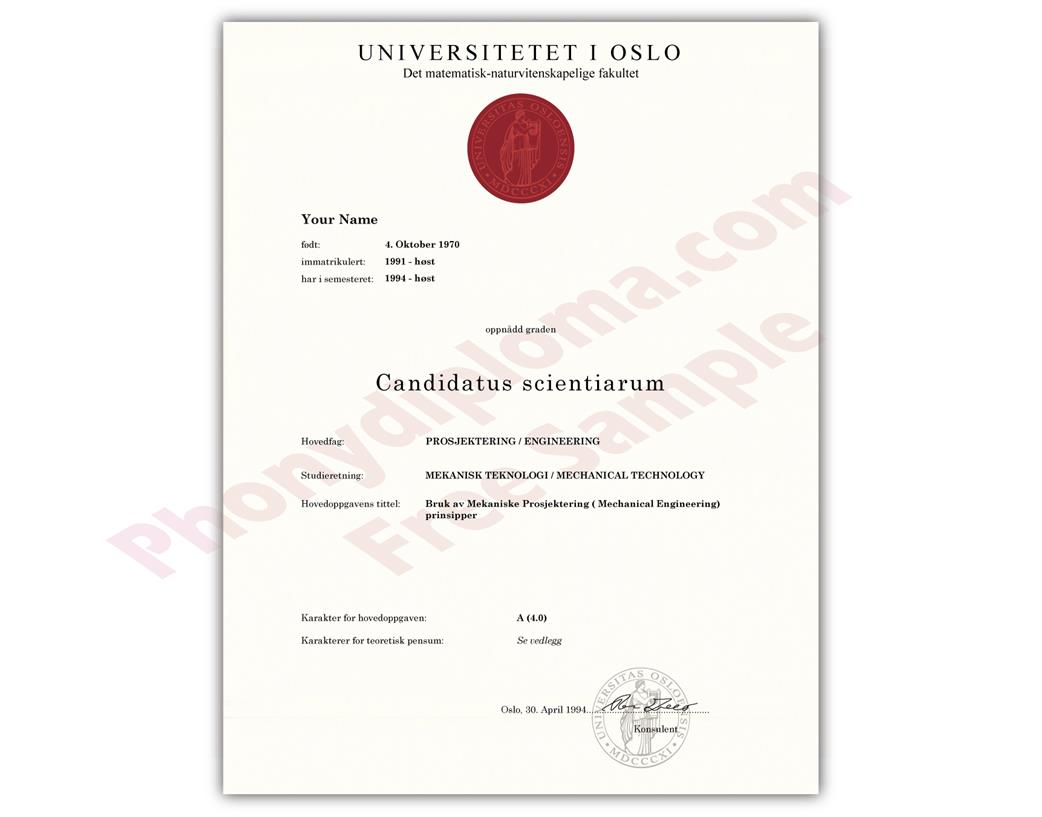 Buy Fake Diplomas and Transcripts from Norway