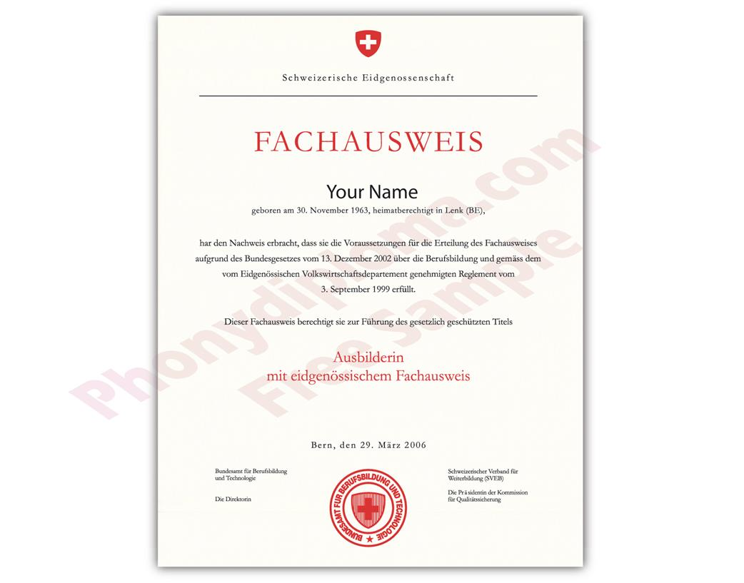Buy Fake Diplomas and Transcripts from Switzerland