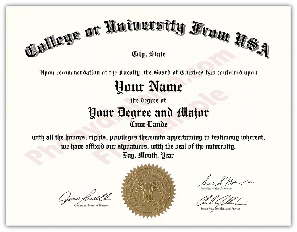 usa college and university diploma state design