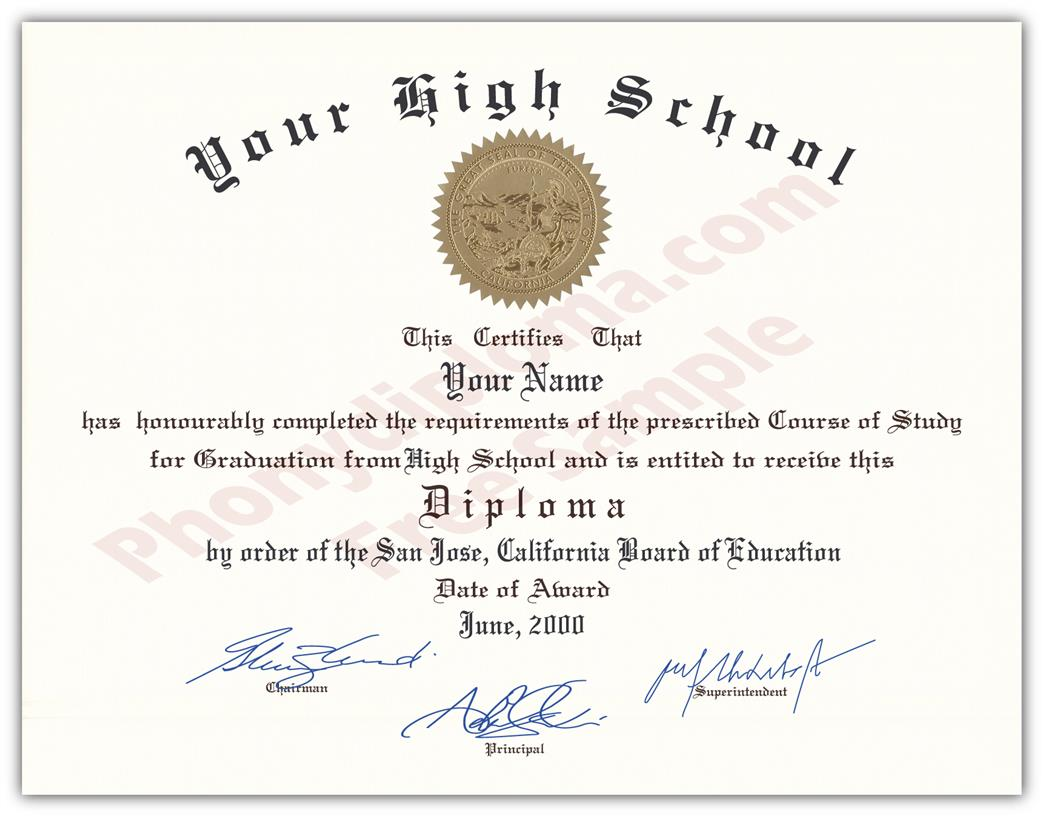 Fake High School Decade Design Diplomas