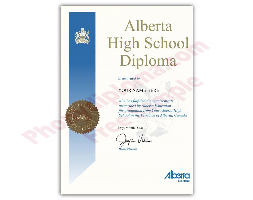 Canada Fake Secondary School Design Diplomas