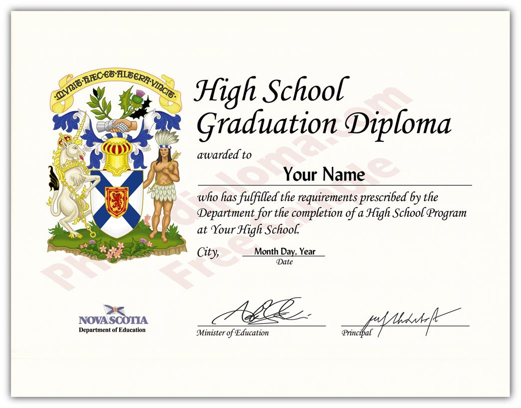 Canada Fake Secondary School Design Diplomas