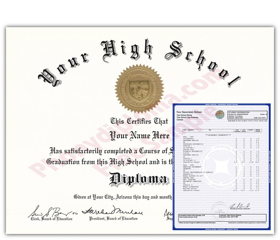 High School Fake Diplomas & Transcripts - Fast Delivery - Find fake ...