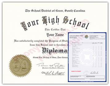 Fake High School Diplomas & Transcripts