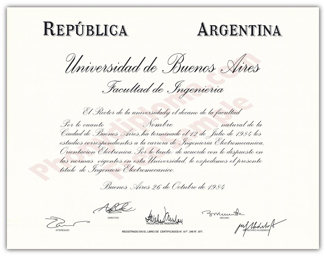 Buy Fake Diplomas and Transcripts from Argentina