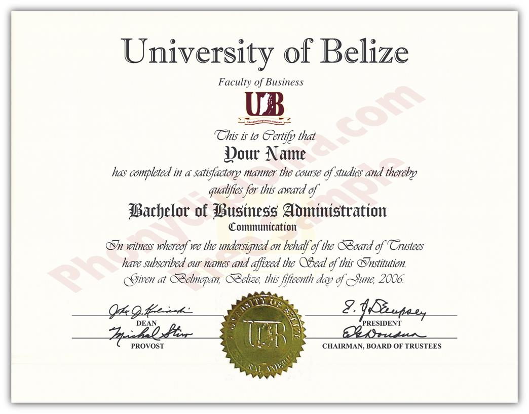 fake diploma from belize university belize