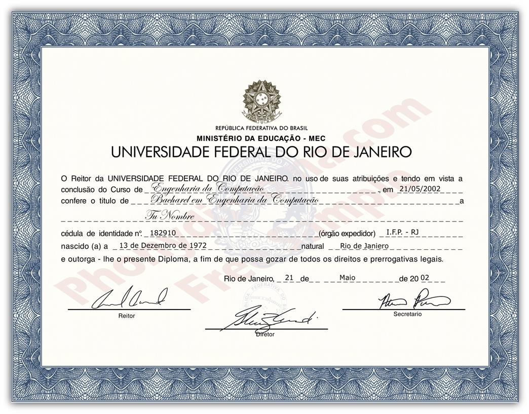 Buy Fake Diplomas and Transcripts from Brazil