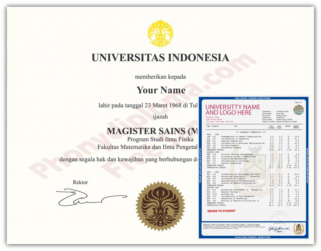Fake Diploma and Transcript from Malaysia University
