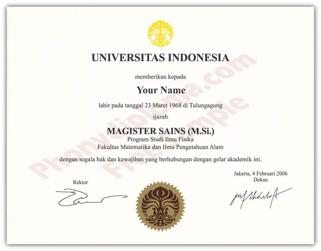 Fake - From Indonesia com Phonydiploma Diploma University