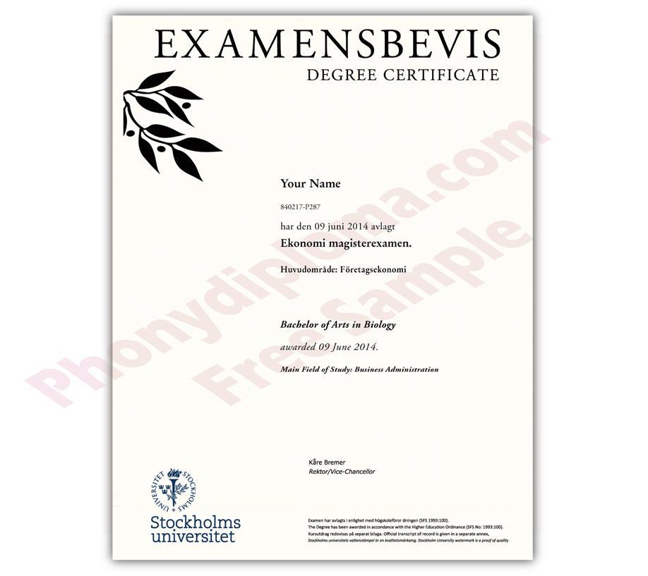 fake diploma from sweden university sweden d