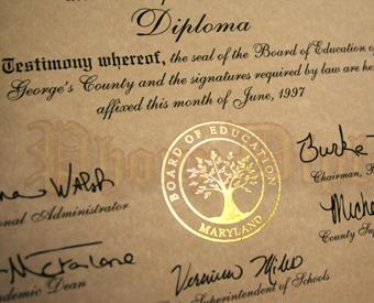 Fake Diploma Flat Gold Foil Seal