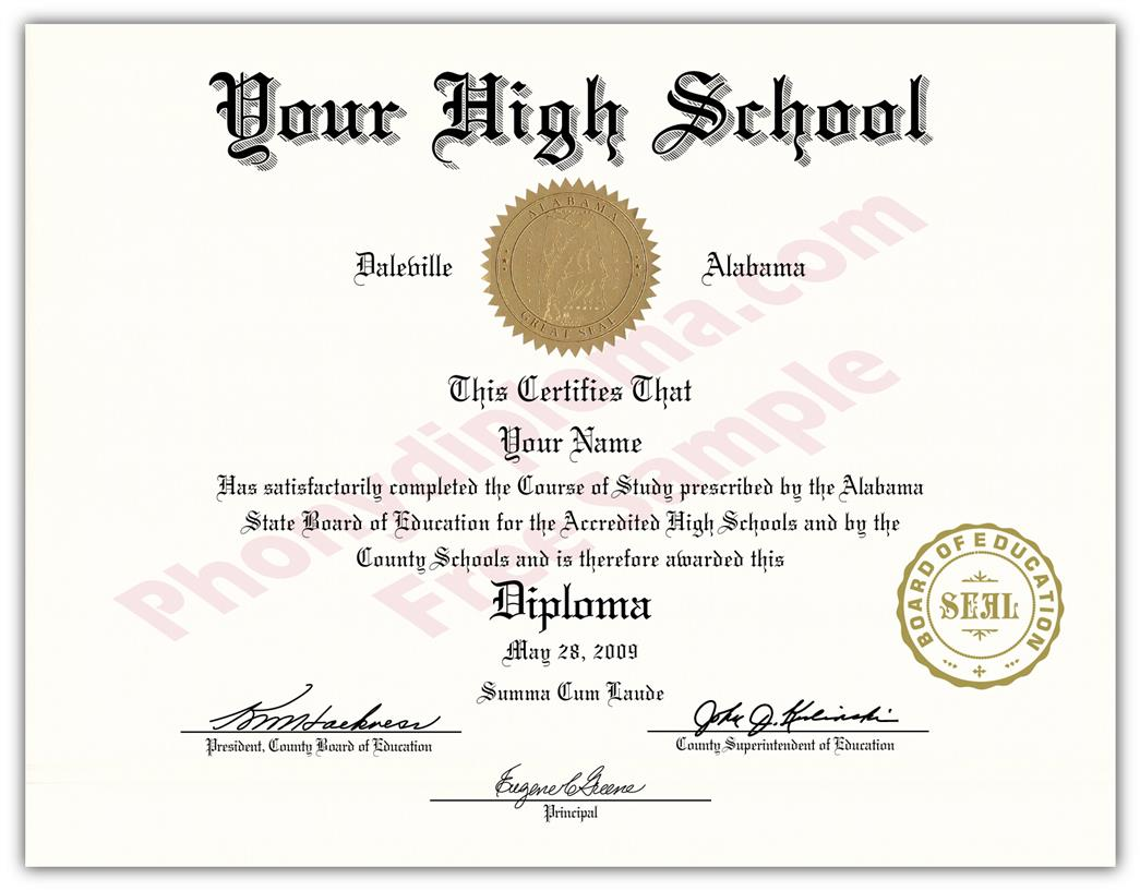 Fake High School State Design Diplomas
